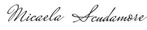 Micaela scudamore signature